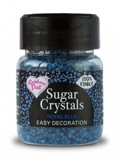 Rainbow Dust Sugar Crystals - Royal Blue