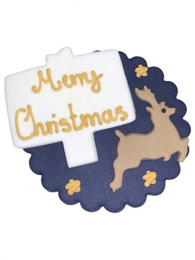 Reindeer Merry Christmas Plaque