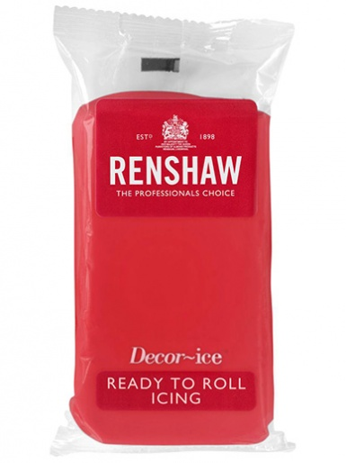 Renshaw Ready To Roll Icing - Poppy Red 1kg
