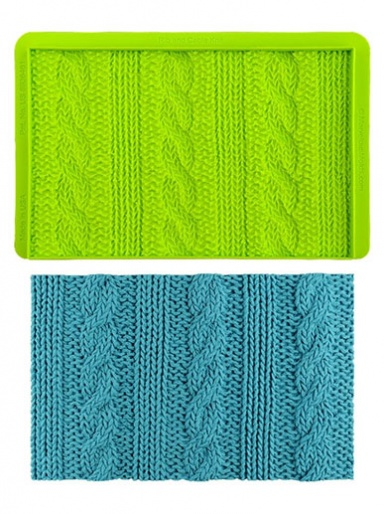 Rib and Cable Knit - Simpress™ Mould - Marvelous Molds