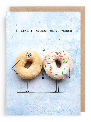 Ring Doughnuts - Valentines Card