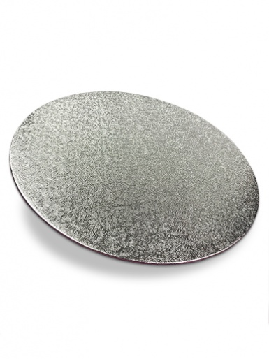 12'' Round Silver Turn Edge Cake Card (1.75mm Thick)