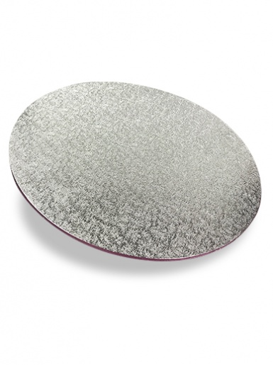 14'' Round Silver Hardboard Cake Card (3mm Thick)