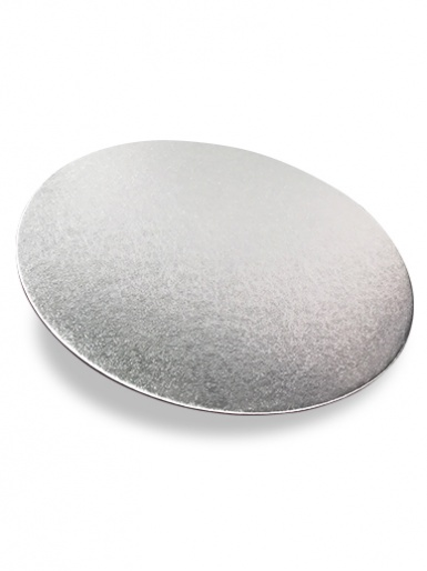 3'' Round Silver Single Thick - Cut Edge Cake Card (1.8mm Thick)