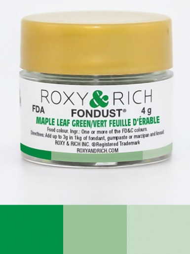 Roxy & Rich Fondust 4g - Maple Leaf Green