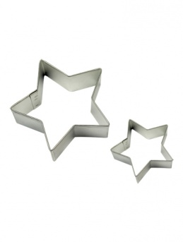 STAR Cookie & Cake Cutter Set of 2