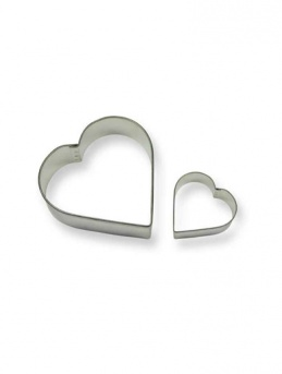 HEART Cookie & Cake Cutter Set of 2