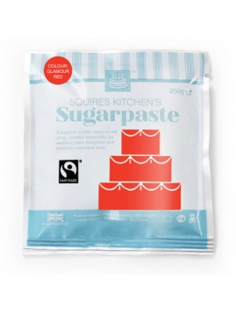 Glamour Red Squires Kitchen Fair Trade Sugarpaste 250g