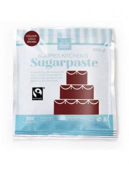 Coco Brown Squires Kitchen Fair Trade Sugarpaste 250g