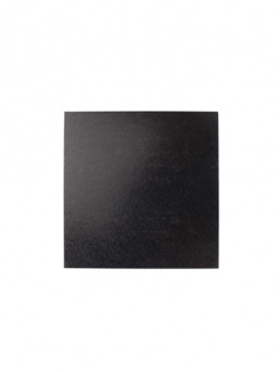 Square Thick Cake Board Drum - Black