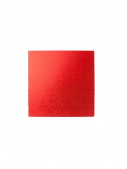 Square Thick Cake Board Drum - Red