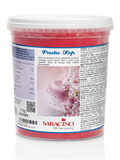 Saracino Sugarpaste Paste (Pasta Top) 1kg - Red