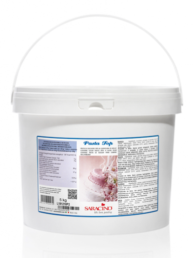 SARACINO Sugarpaste Paste (PASTA TOP) 5kg - White - Pail