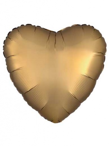 Satin Luxe Heart - Gold Balloon - 19'' Matte Foil