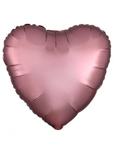 Satin Luxe Heart - Rose Gold Balloon - 19'' Matte Foil