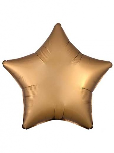 Satin Luxe Star - Gold Balloon - 19'' Matte Foil
