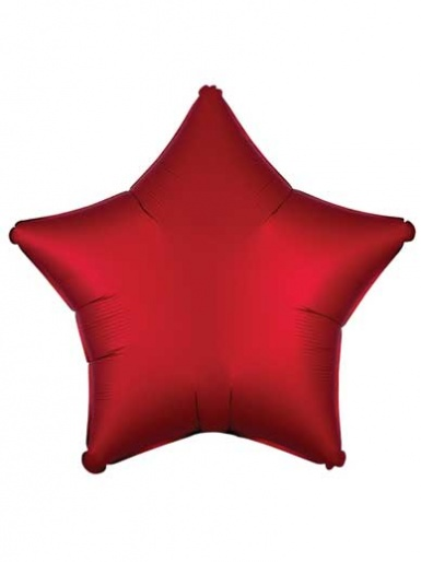 Satin Luxe Star - Sangria Red Balloon - 19'' Matte Foil
