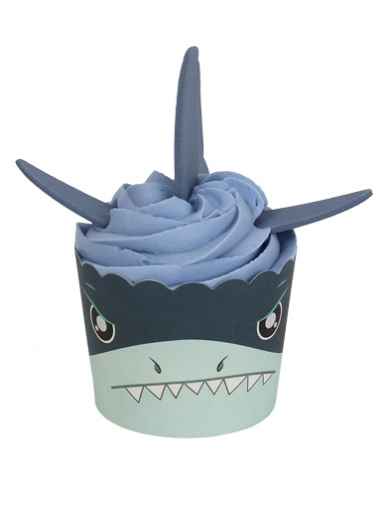 PME Cup Kit Cupcakes & Sugar Decorations - Shark Attack