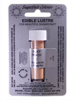 Sugarflair SILKY PEACH Edible Lustre Dust Powder