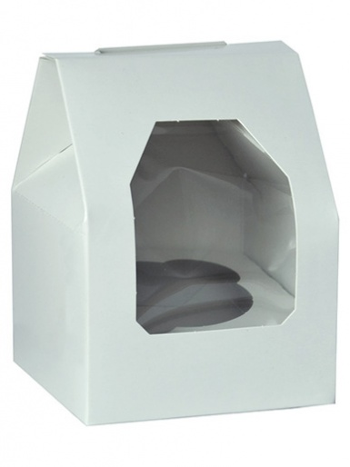 Single White Gable Top Cupcake Box