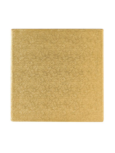 Gold Square Thick Cake Board Drum
