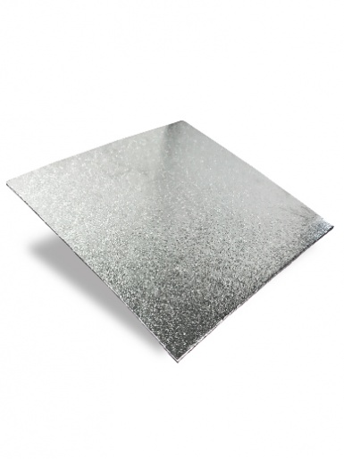 9'' Square Silver Turn Edge Cake Card (1.75mm Thick)