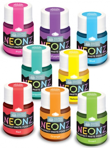 Squires Kitchen NEONZ Paste Food Colours - Full Set of 8