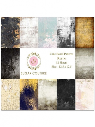Sugar Couture - Book of 12 Contact Papers - Rustic