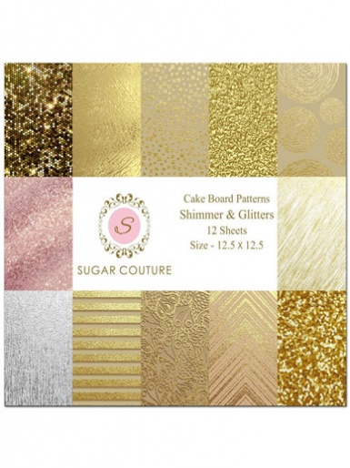 Sugar Couture - Book of 12 Contact Papers - Shimmers & Glitters