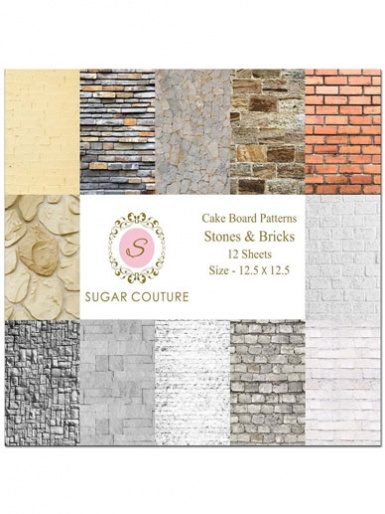 Sugar Couture - Book of 12 Contact Papers - Stones & Bricks