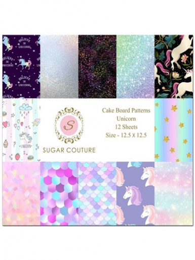 Sugar Couture - Book of 12 Contact Papers - Unicorn