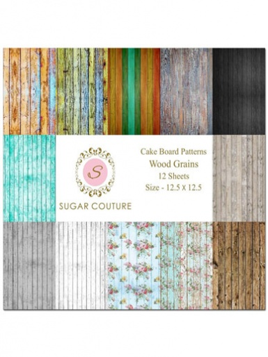 Sugar Couture - Book of 12 Contact Papers - Wood Grain