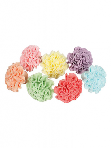 Sugar Decorations - 35x Pastel Pom Poms - 30mm