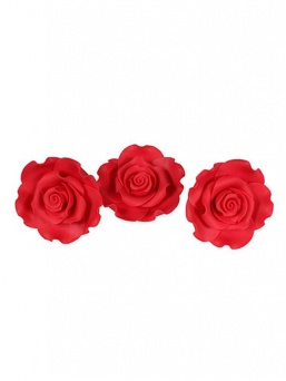 Medium Soft Sugar Roses - Strawberry 38mm - Box of 20
