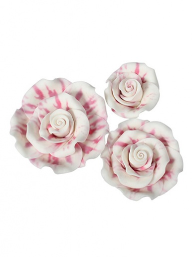 Soft Sugar Roses - Mixed Pack - Raspberry Ripple