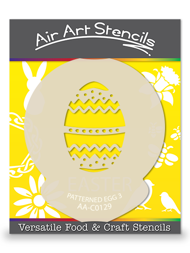 Patterned Egg (Design 3) Easter Cupcake Stencil