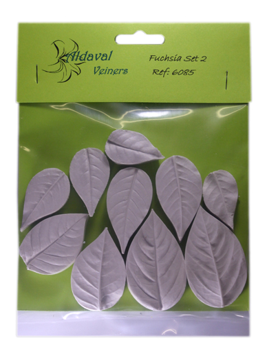 Fuschia Leaf Veiner Set 2