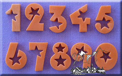 Numbers Stars 18mm Silicone Mould