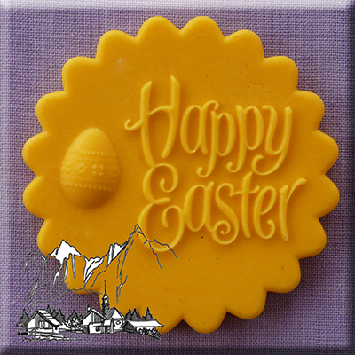Happy Easter Cupcake Topper Silicone Mould