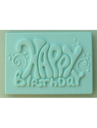 Happy Birthday Plaque Silicone Mould The Vanilla Valley