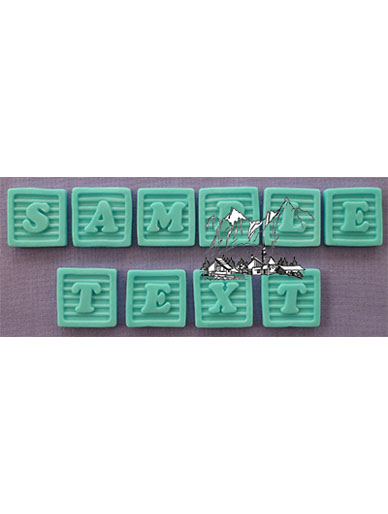 Baby Block Font Silicone Mould