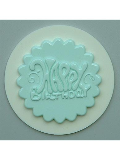 Happy Birthday Cupcake Topper Silicone Mould