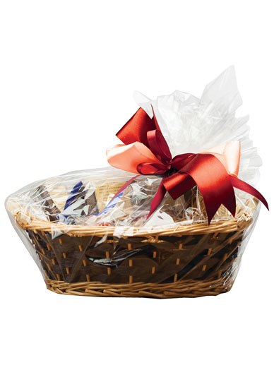 Gift Hamper Gold Silver Snowflake for Present Christmas Clear Cellophane