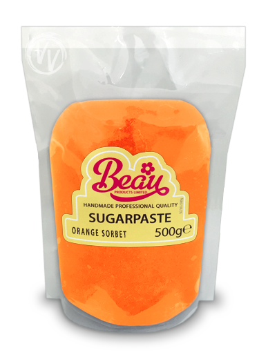 Beau Orange Sorbet Sugarpaste 500g