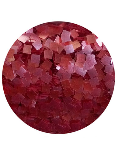 Edible Glitter Squares - Red