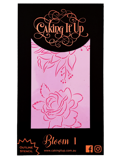Caking It Up - Outline Stencil - Bloom I