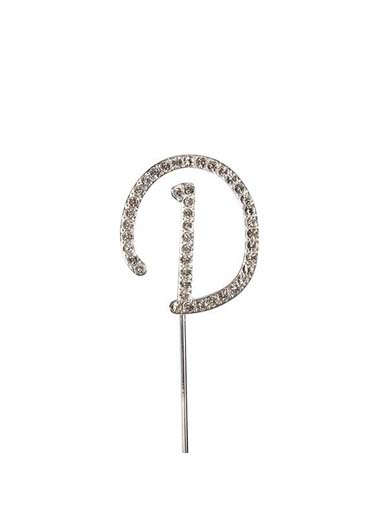 Diamante Cake Topper Letter D