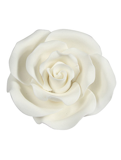Extra Large Soft Sugar Roses - White 63mm - Box of 8