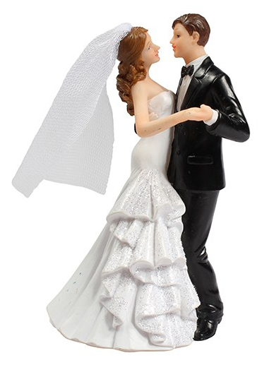 Bride & Groom Holding Hands Wedding Cake Topper
