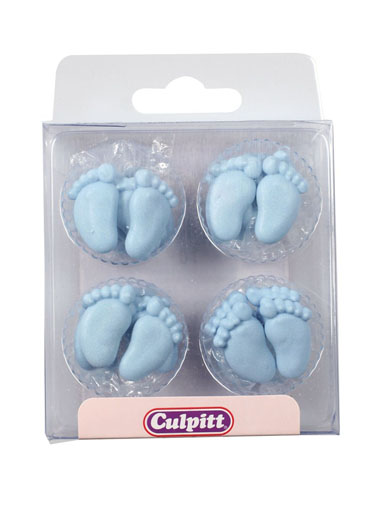 Blue Pairs of Feet Edible Decorations
